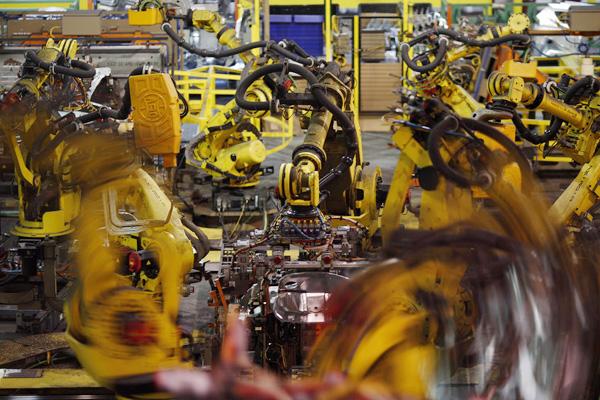 中国工場で進むロボット化の波