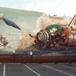 生物×ロボット、芸術家リモ・リーンハルト氏が壁画作品を公開