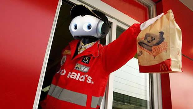 マクドナルドサービスロボット