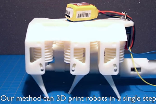 3Dプリンタ技術を利用した水圧式ロボット3