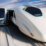 走行する電車間を乗り換えるアイデア・ムービングプラットフォーム