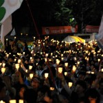 ロウソクアプリにARデモ参加…朴槿恵退陣デモがハイテク化していた
