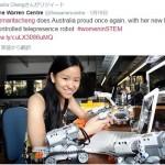 脳波で制御するテレプレゼンスロボット…豪の若き才女が開発