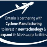カナダ・オンタリオ州政府が航空宇宙メーカー「サイクロン・マニュファクチャリング」に約4億円を投資