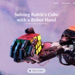 OpenAIがルービックキューブを解くロボットハンド開発...社会実装の試金石になるか